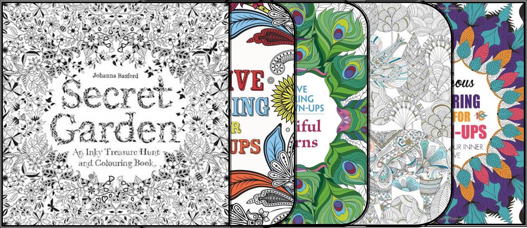 Home Adult Colouring Books Blog Art Therapy Book Montage 3 Squared